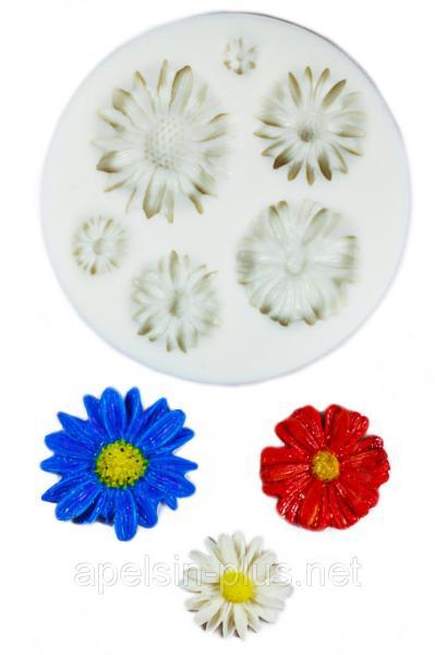 """Молд силиконовый """"Полевые цветы"""" 7,7 см"""