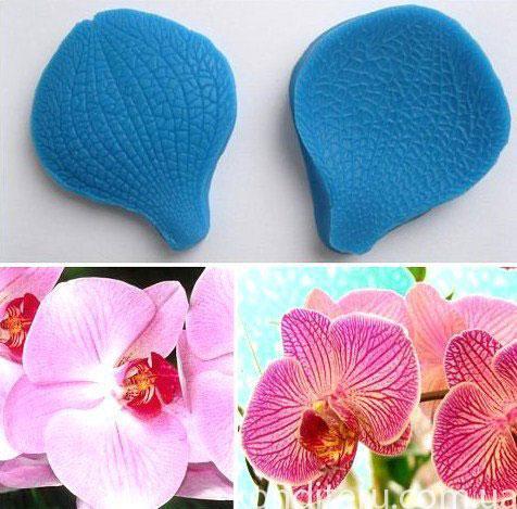 """Вайнер силиконовый """"Лепесток Орхидеи"""" 6,4 см 5,4 см"""