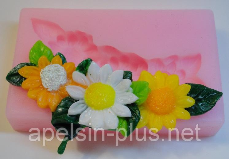 Фото Молды силиконовые цветы и листья Молд силиконовый