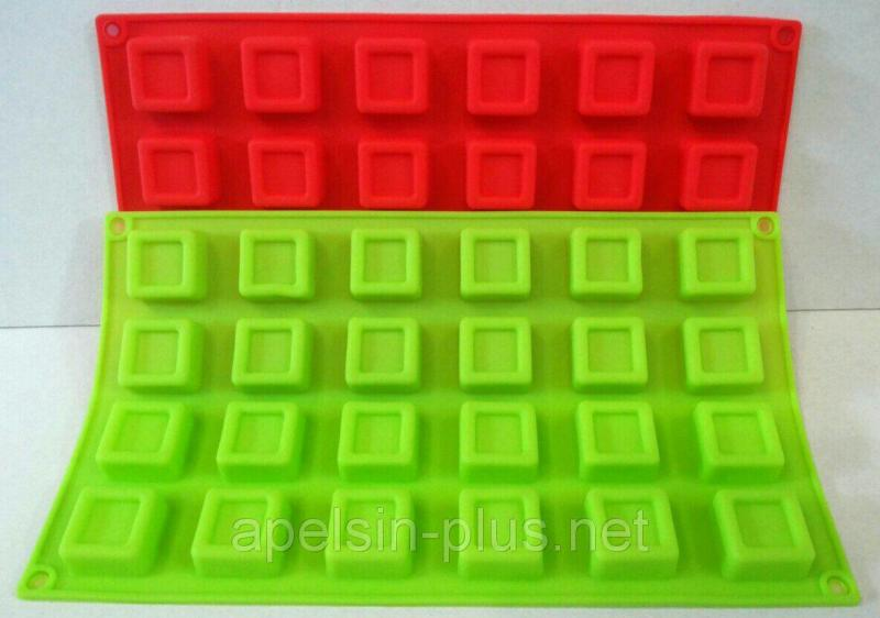 """Силиконовая форма """" Кубики"""" из 24 штук"""