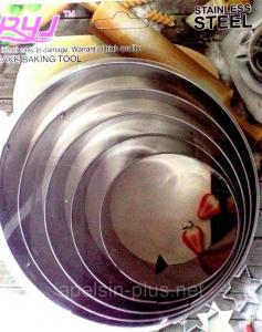 Фото Кондитерские кольца и раздвижные формы для тортов Кондитерские металлические кольца набор 5 штук