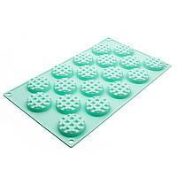 Силиконовая форма для евродесертов Waffel Round вафли круглые