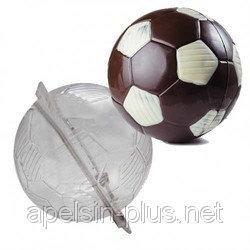 Поликарбонатная форма для шоколада Футбольный мяч 3D 15 см