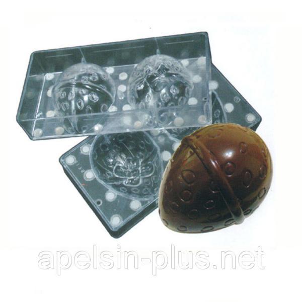 Поликарбонатная форма для шоколада Пасхальное яйцо 3D