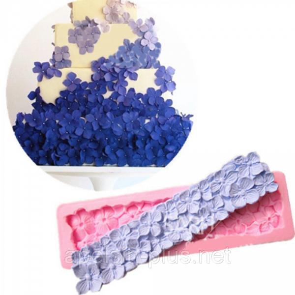 """Молд силиконовый для декора """"Цветочный бордюр"""" 16 см 3,5 см"""