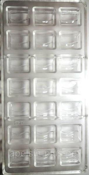 Фото Молды пластиковые и поликарбонатные Поликарбонатная форма для шоколада Прямоугольники Bake ware 21 ячейки