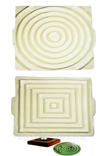 Силиконовая форма для декора муссовых тортов Лабиринты