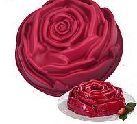 """Силиконовая форма для пирога """"Роза"""" 23 см"""