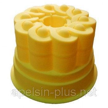 """Силиконовая форма для пирога """"Кулич с втулкой"""" 16 см 10,5 см"""