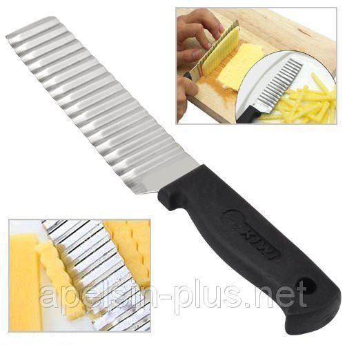 """Нож для фигурной нарезки сыра и овощей """"Волна"""""""