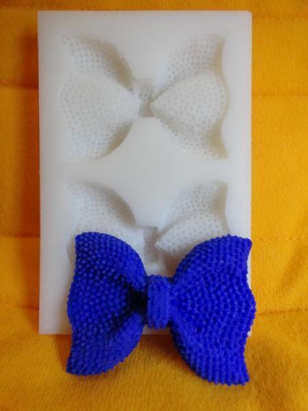 """Молд силиконовый для декора """"Бантики"""" 8,8 см 5,7 см"""
