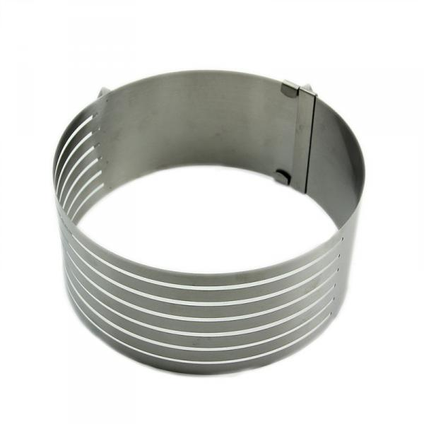 Раздвижное кольцо для нарезания бисквита от 15 см до 20 см