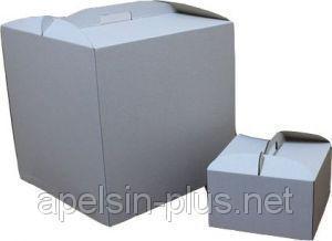 Коробка для торта картонная 25 см 25 см 15 см белая