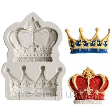 """Молд силиконовый для декора """"Короны"""" 7 см 5,2 см"""