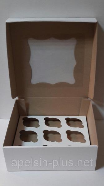Коробка для кексов,капкейков и маффинов на 9 штук