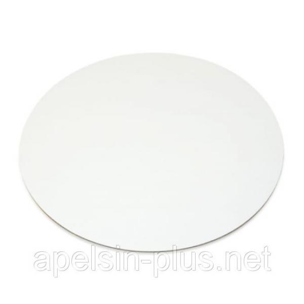 Подложка-поднос усиленная ламинированная белая 40 см 0,4 см