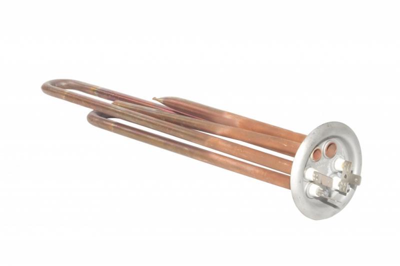 ТЭН водонагревателя Thermex  RF64 1,3 кВт.(медн.) M4 под анод  641263  (L-250мм, 2 трубки для термостата и термозащиты)(фланец 64 мм)