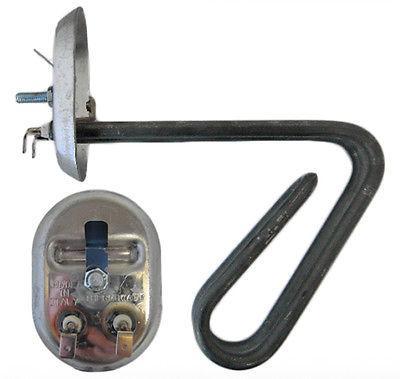 ТЭН водонагревателя RNSA 2500 Вт M4 на овальном фланце - нерж.сталь Ariston