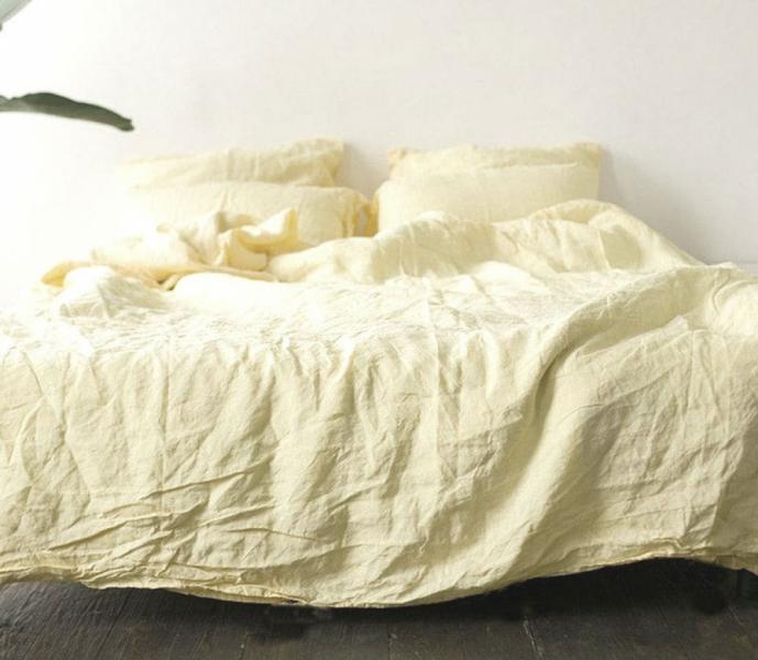 Фото ЭЛИТНОЕ ПОСТЕЛЬНОЕ, Лён натуральный Комплект льняного постельного белья
