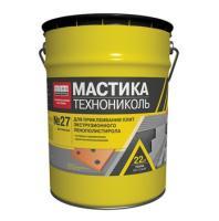 Фото Гидроизоляция, Мастика и битум Мастика приклеивающая ТехноНИКОЛЬ №27 22 кг