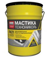 Фото Гидроизоляция, Мастика и битум Мастика кровельная ТЕХНОНИКОЛЬ №21 Техномаст 20 кг