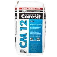 Клеящая смесь для напольных плит и керамогранита Ceresit CM 12  (25 кг)