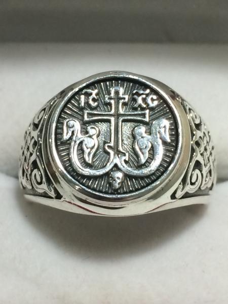 Фото Кольца Серебряное кольцо «Процветший Крест»