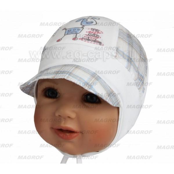 Шапка детская MAGROF BIS W16 K-2044 (трикотаж с вставками ситца)