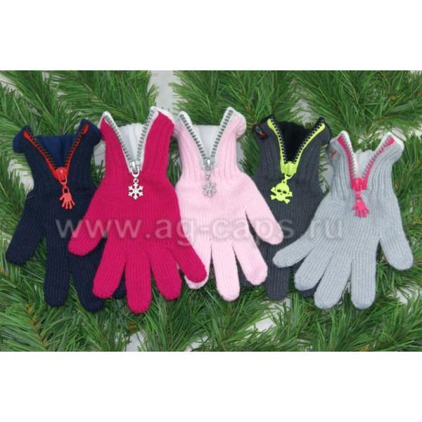 Перчатки детские MARGOT BIS-W17 ZIPPER (на флисе на пальцах одинарные)