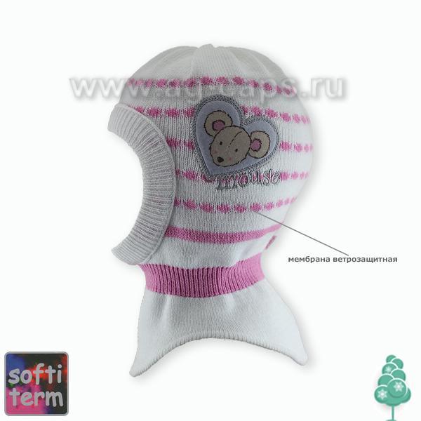 Шапка-шлем детская GRANS Z17 AK-25ST M, bez,pomp kat KO19 (ISOSOFT)