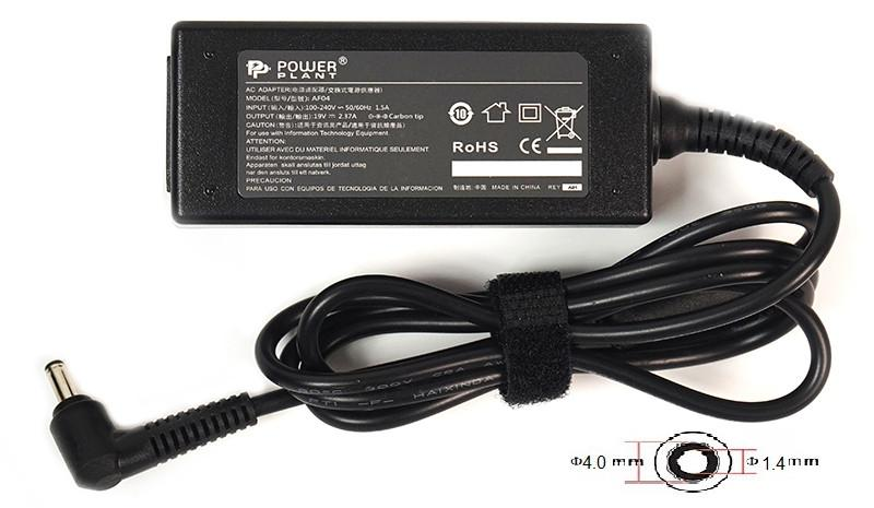 Блок питания для ноутбуков PowerPlant ASUS 220V, 19V 45W 2.37A (4.0*1.4)