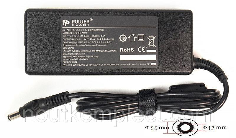 Блок питания для ноутбуков PowerPlant ACER 220V, 19V 90W 4.74A (5.5*1.7)