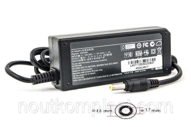 Блок питания для ноутбуков PowerPlant ASUS 220V, 9.5V 24W 2.5A (4.8*1.7)