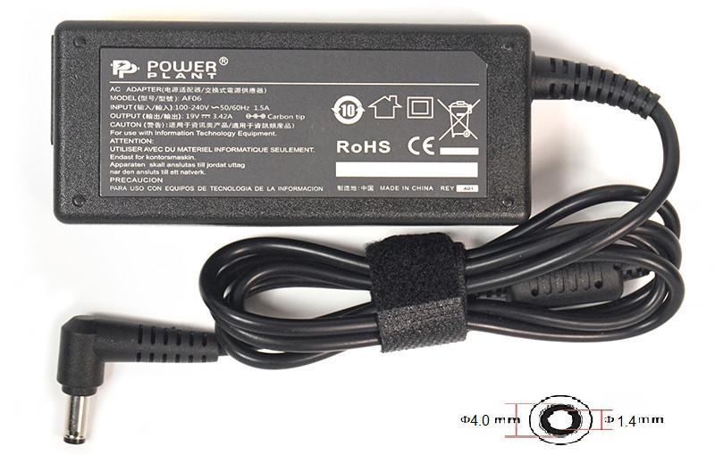 Блок питания для ноутбуков PowerPlant ASUS 220V, 19V 65W 3.42A (4.0*1.35)