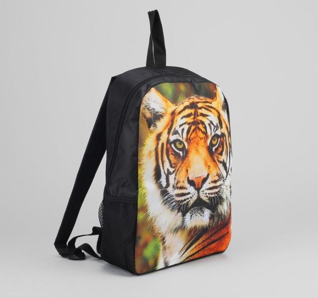 Ранец молод 2053, 27*10*38, 1 отд на молнии, 2 н/кармана, тигр