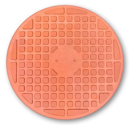 Люк канализационый 1т красный