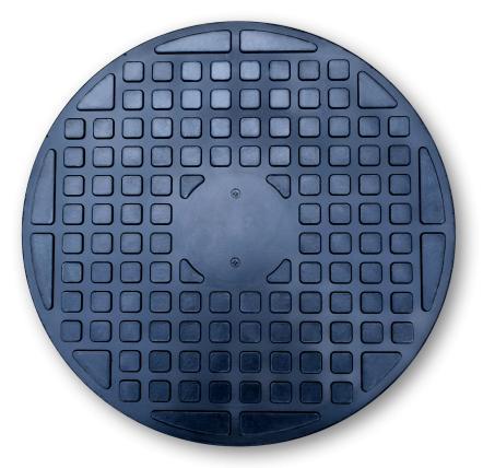 Люк канализационый 1т черный + замок