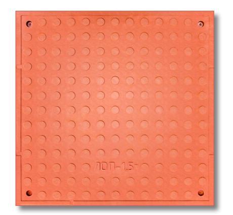 Люк канализационый квадратный красный + замок