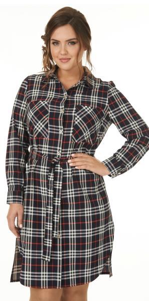 Платье-рубашка - 0839