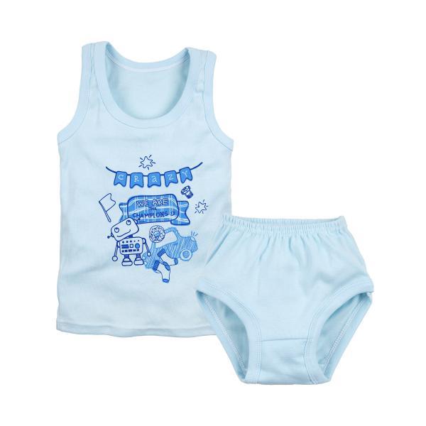 Комплект майка и трусы голубого цвета для мальчика