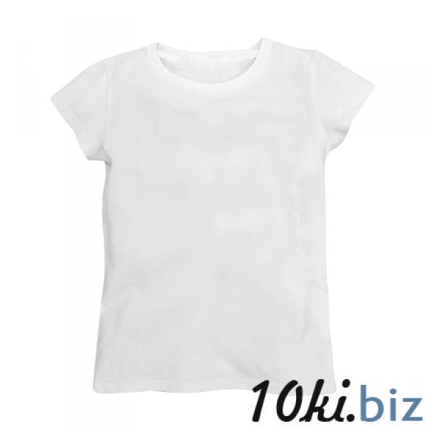 Классическая белая футболка для детей Футболки детские для девочек в России