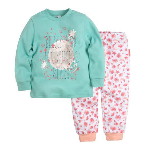 Пижама джемпер+брюки с принтом для девочки