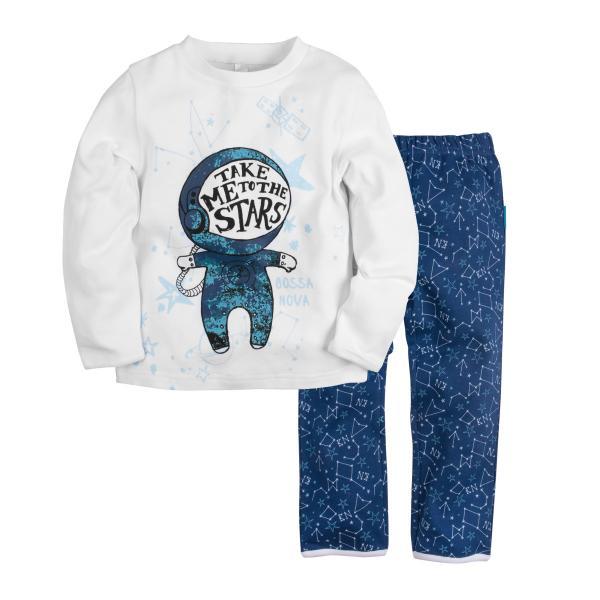 Пижама джемпер+брюки с принтом для мальчика
