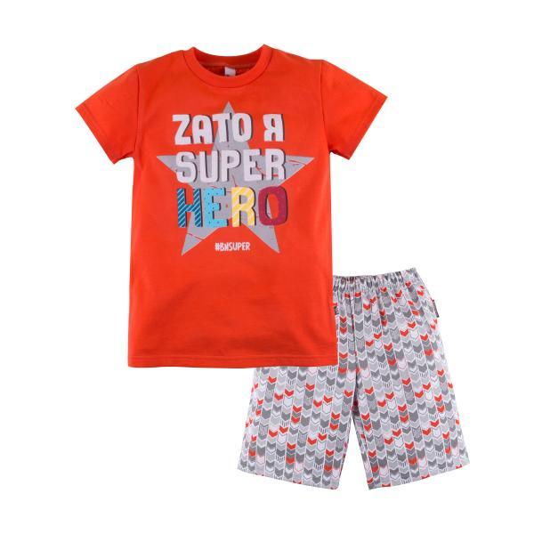 Пижама футболка и шорты с принтом для мальчика