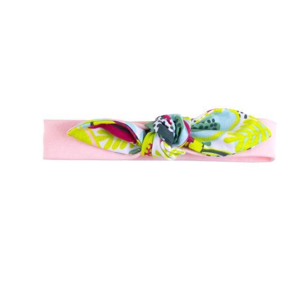 Повязка с бантиком 'Фламинго'