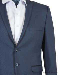 Фото Мужская одежда оптом, Пиджаки приталенные Пиджак приталенный, с локтями JS 22929_3