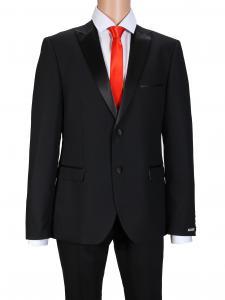 Фото Мужская одежда оптом, Костюмы приталенные Костюм Heron black smoking