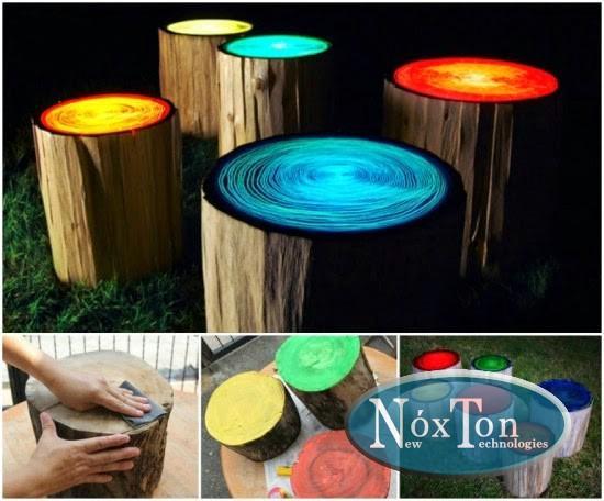Самосветящаяся краска для работ по дереву дерева