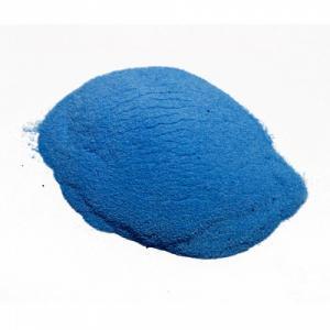 Фото Светящийся порошок (люминофор) ТАТ 33 Синий светящийся пигмент ТАТ 33, синий днем, синий ночью.