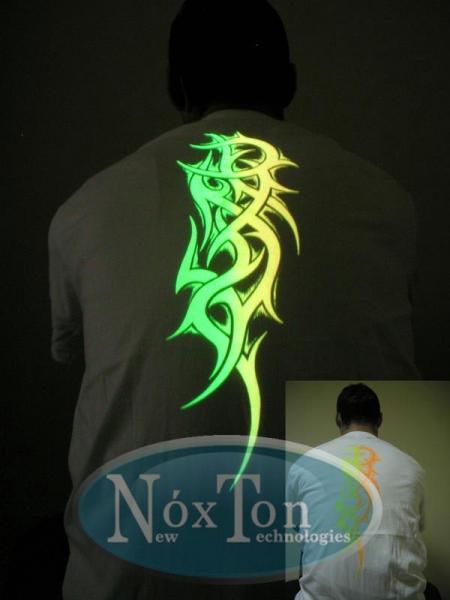 Светящаяся в темноте краска для ткани Noxton
